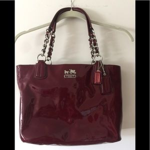 Coach Ruby Red Patent Leather Purse